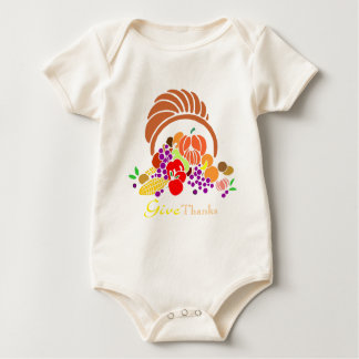 Give Thanks - Horn of Plenty Baby Bodysuit