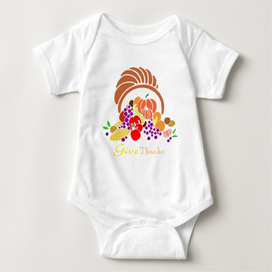 Give Thanks - Horn of Plenty Baby Bodysuit