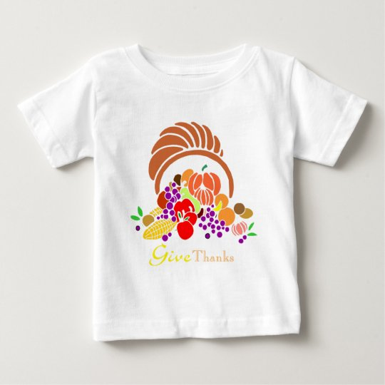 Give Thanks - Horn of Plenty Baby T-Shirt