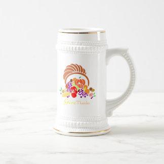 Give Thanks - Horn of Plenty Beer Stein