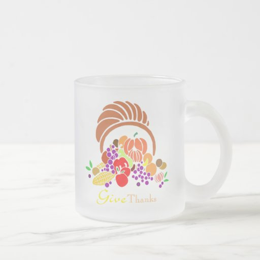 Give Thanks - Horn of Plenty Coffee Mugs