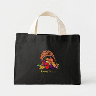 Give Thanks - Horn of Plenty Mini Tote Bag
