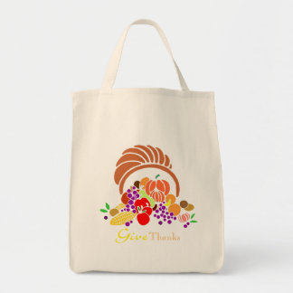 Give Thanks - Horn of Plenty Tote Bag