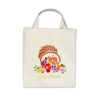 Give Thanks - Horn of Plenty Tote Bag