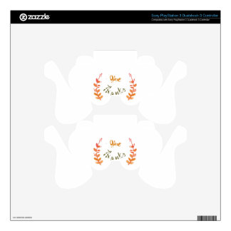 Give thanks illustration PS3 controller decal