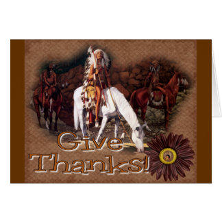 give thanks indian greeting card