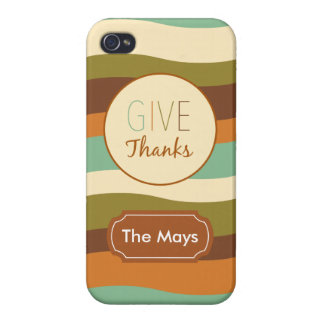 Give Thanks iPhone 4/4S Covers