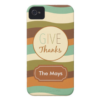 Give Thanks iPhone 4 Case-Mate Case