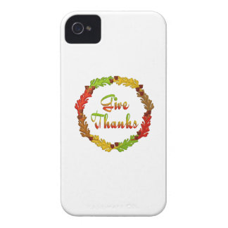 Give Thanks iPhone 4 Cases