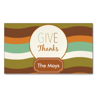 Give Thanks Magnetic Business Card
