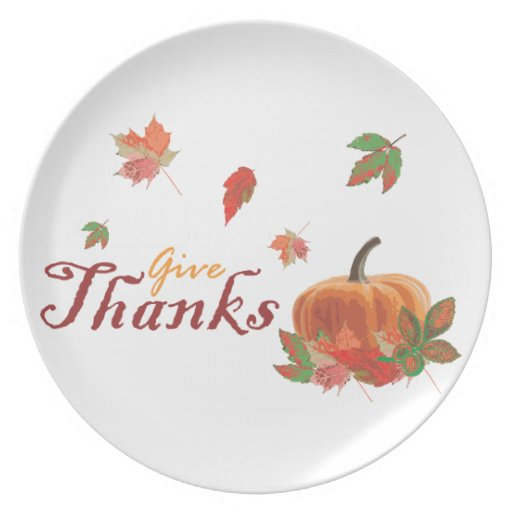 Give Thanks Party Plate
