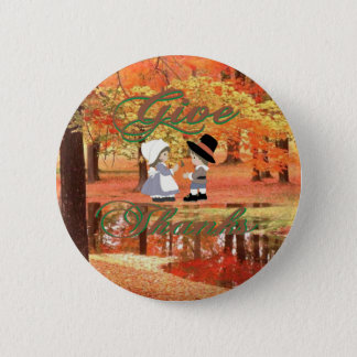 Give Thanks Pinback Button