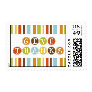 GIVE THANKS Postage Stamp