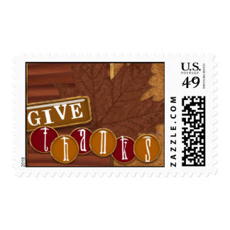 Give Thanks ! Postage Stamp