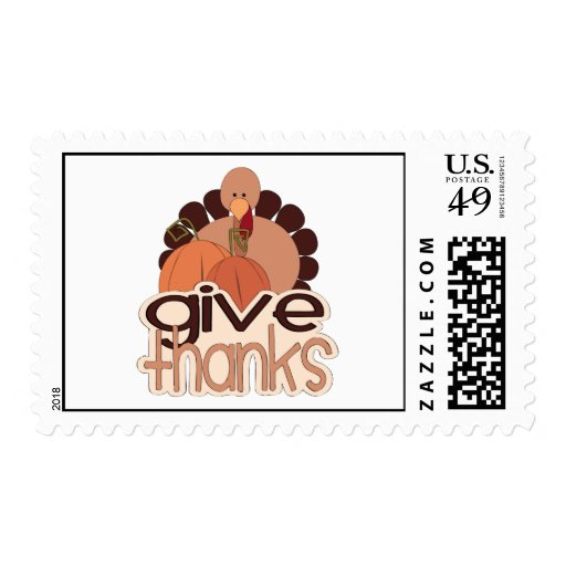 Give Thanks Postage Stamps