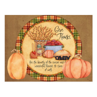 Give Thanks Post Cards