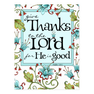Give Thanks - Postcard
