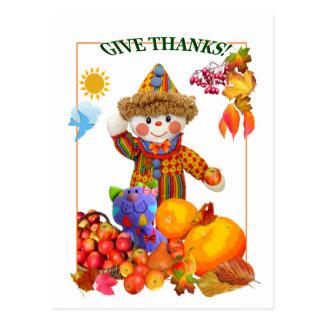 GIVE THANKS! ~ Postcard 4 Kids