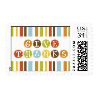GIVE THANKS Postcard Stamp Postage