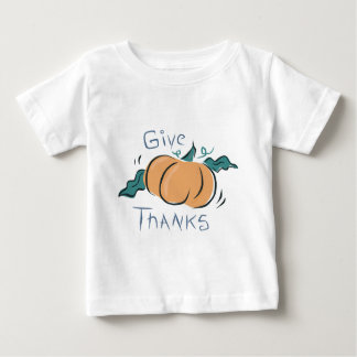 Give Thanks Pumpkin Doodle Baby T-Shirt