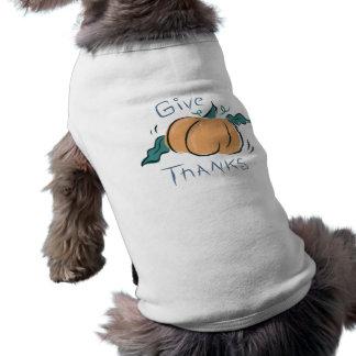 Give Thanks Pumpkin Doodle Pet T Shirt