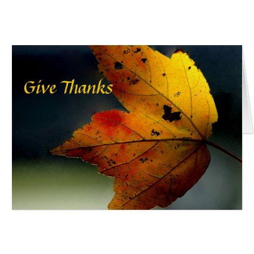Give Thanks/ - Ralph Waldo Emerson Card