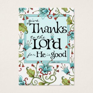 Give Thanks - Scripture Cards