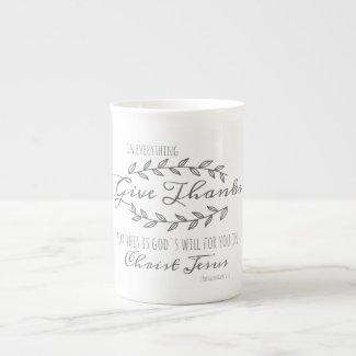 """Give Thanks"" Scripture Coffee Mug"