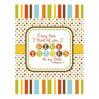 GIVE THANKS Scripture Verse Postcard