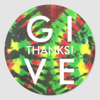 Give Thanks Sticker