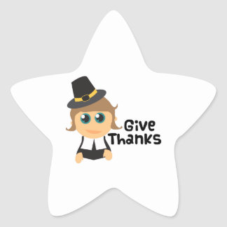 Give Thanks Star Stickers