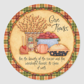 Give Thanks Stickers