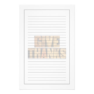 Give Thanks - Thanksgiving Concept - Isolated Personalized Stationery