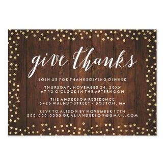 Give Thanks | Thanksgiving Dinner Invite