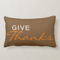 """""""Give Thanks"""" Thanksgiving/Fall Throw Pillow"""
