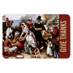 Give Thanks.Thanksgiving Gift Magnet