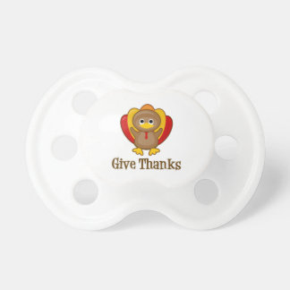 Give Thanks Thanksgiving Turkey BooginHead Pacifier