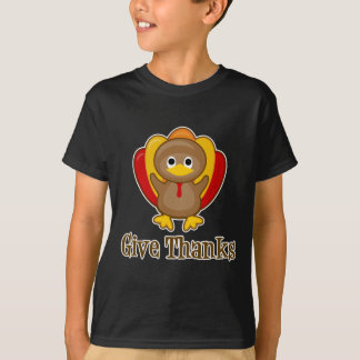 Give Thanks Thanksgiving Turkey T-Shirt