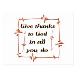 Give thanks to God Christian Postcards