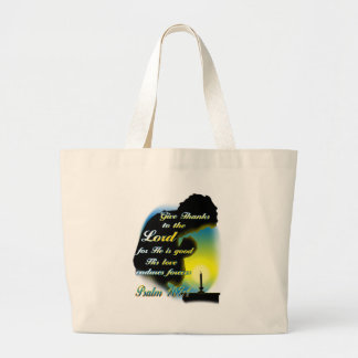 Give Thanks to the Lord Large Tote Bag