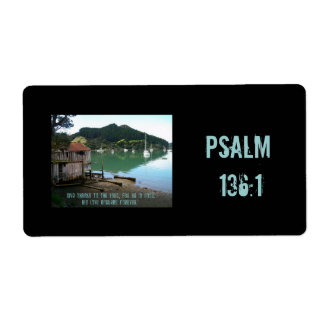 Give Thanks to The Lord - Psalm 136:1 Label