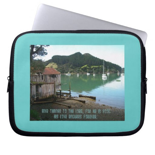 Give Thanks to The Lord - Psalm 136:1 Laptop Sleeve