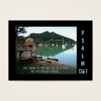 Give Thanks to The Lord -Psalm 136:1- Tract Card /