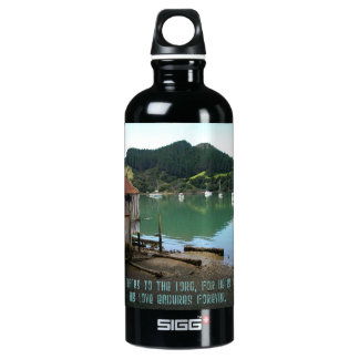 Give Thanks to The Lord - Psalm 136:1 Water Bottle