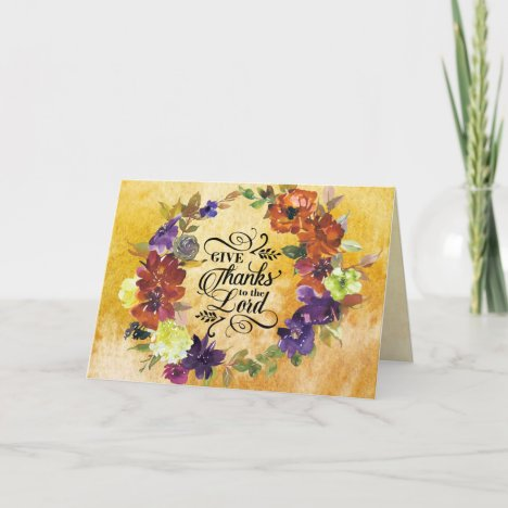 Give Thanks to the Lord, Thanksgiving Holiday Card
