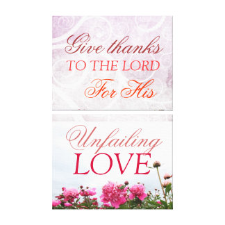 Give thanks to the Lord, wall canvas