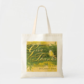 Give Thanks Tote Design