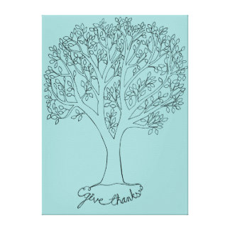 Give Thanks Tree Canvas Print
