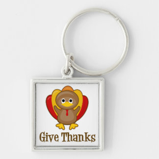 Give Thanks Turkey Keychain