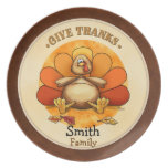 Give Thanks Turkey - Thankgiving plate